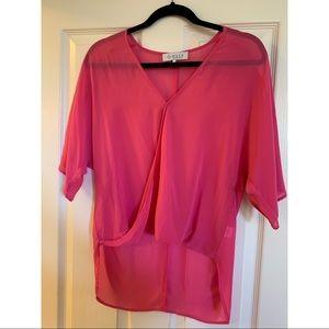 WAYF pink blouse